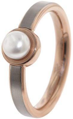 Boccia 0137-02 Titan Damenring mit Süßwasser-Zuchtperle Weiß