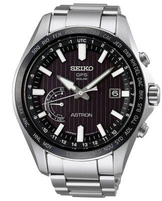 Seiko SSE161J1 Astron GPS Solar World Time Herrenarmbanduhr