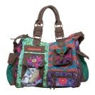 Desigual 31X5149 London Peacock Shopper Violeta