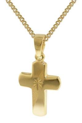 35750 Goldener Kreuz-Anhänger