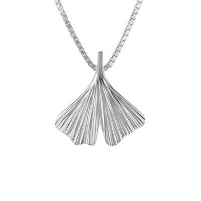 trendor 08931 Ginkgo Blatt mit Venezianer Halskette 925 Silber
