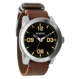 Nixon A243 019 Corporal Black Brown Herrenuhr