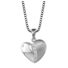 trendor 40843 Silber Herz-Anhänger mit Kette