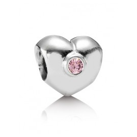Pandora 790134PCZ Silber Charm Herz Pink