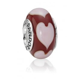 Pandora 790658 Muranoglas Charm Herzen Rot