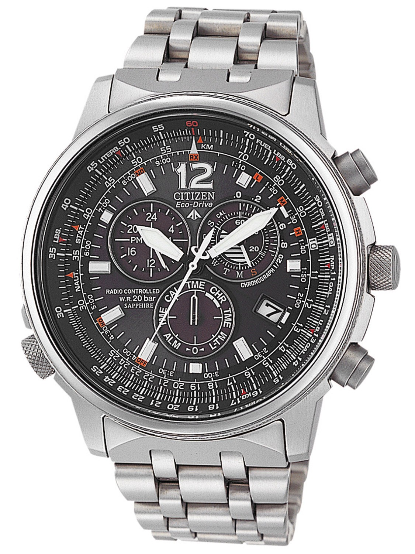 Citizen AS4050-51E Pilot Titan Funk-Alarm-Chrono Preisvergleich