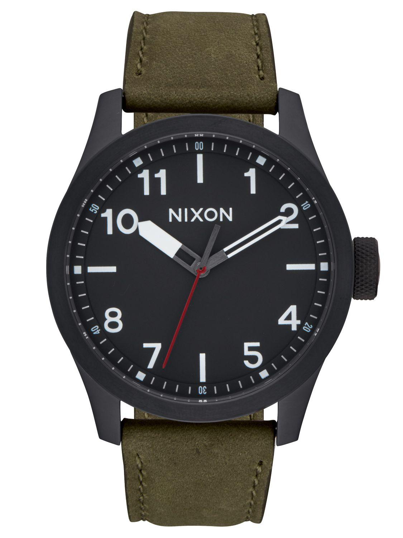 Nixon A975 1032 Safari Leather Black/Surplus He...