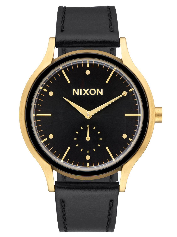 Nixon A995 513 Sala Leather Gold/Black Damenuhr
