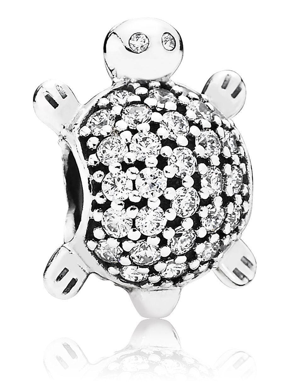 Pandora 791538CZ Silber Charm Meeres-Schildkröte