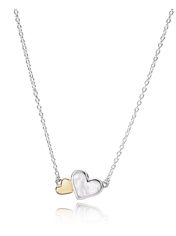 Pandora 590521MPO Damen-Halskette Zarte Herzen