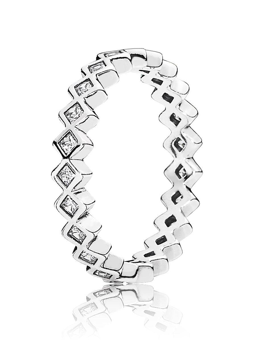 Uhrcenter.de  Pandora 190944CZ Damen-Ring Quadrate