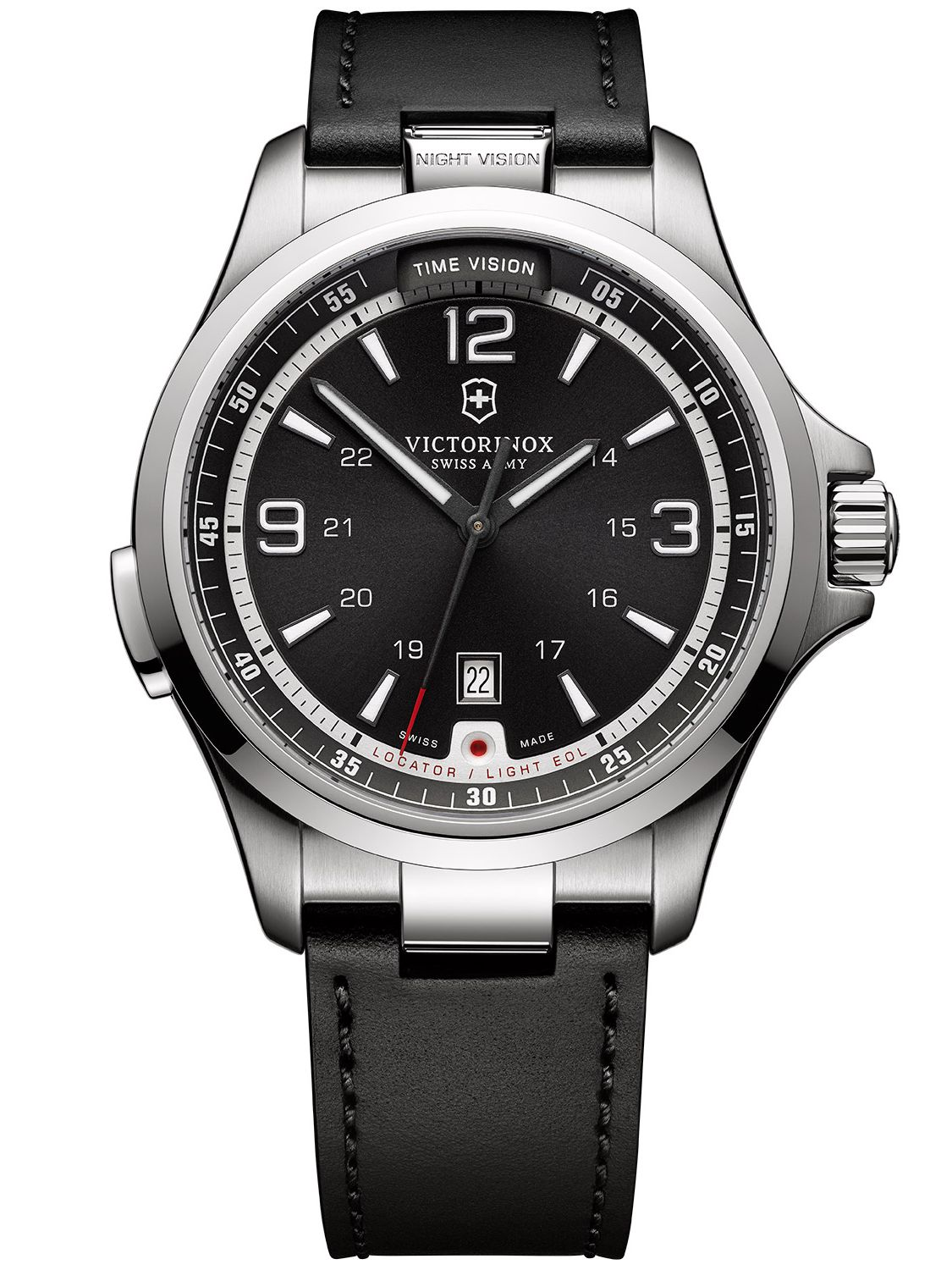 Victorinox 241664 Night Vision Herrenuhr mit Le...