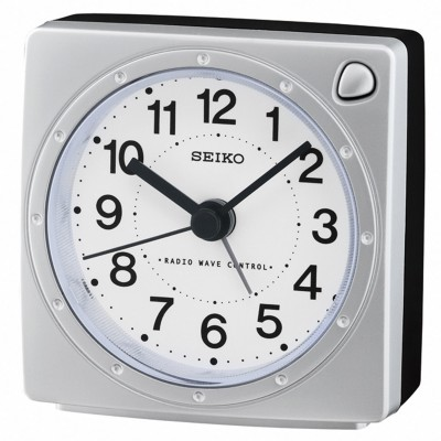 Seiko QHR201S Funkwecker Silber