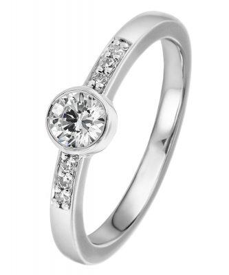 Viventy 769721 Verlobungsring Silber 925 Antragsring Zirkonia Damen-Ring