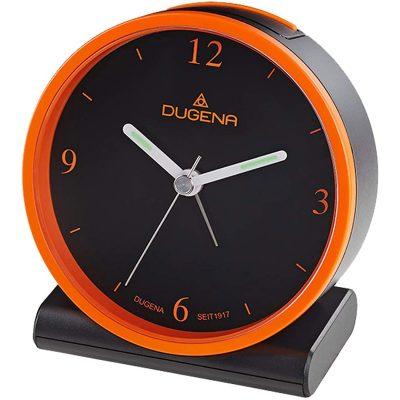 Dugena 4460945 Funkwecker Schwarz / Orange