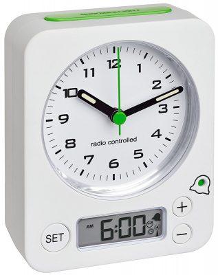 TFA 60.1511.02.04 Funkwecker Combo Weiß/Grün