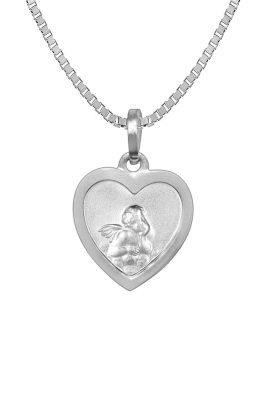 trendor 73082 Halskette mit Schutzengel Herz-Anhänger Silber 925