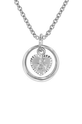 trendor 73242 Silber Halskette Taufring mit Schutzengel