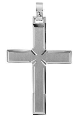 trendor 08749 Kreuz-Anhänger für Männer 925 Silber 42 mm