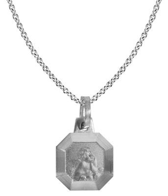 trendor 87530 Silberkette mit Amor-Anhänger