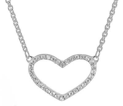 trendor 08028 Silber-Halskette mit Zirkonia-Herz