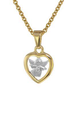 trendor 08553 Mädchen-Halskette mit Herz-Anhänger Gold 333