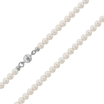 trendor 75484 Perlenkette Süßwasser-Zuchtperlen 4,5 mm