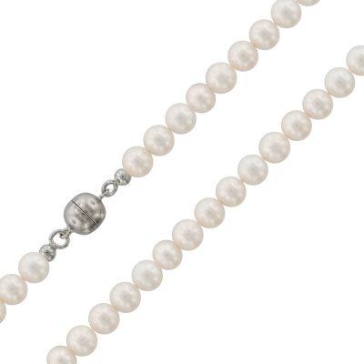 trendor 75490 Perlen-Halskette Süßwasser-Zuchtperlen 7,5 mm