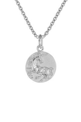 trendor 75949 Kinder-Halskette mit Einhorn-Anhänger Silber 925