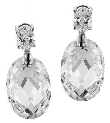 trendor 64864 Silber Ohrringe mit großen Zirkonias Ohrhänger