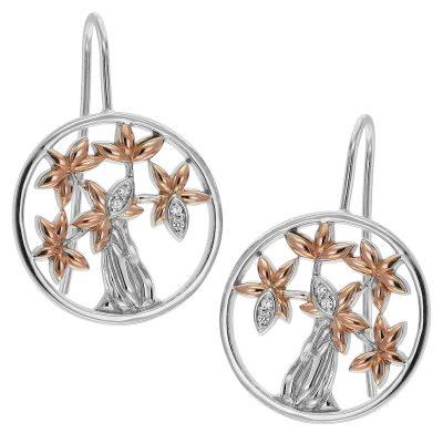 trendor 75507 Damen-Ohrringe Lebensbaum Silber 925
