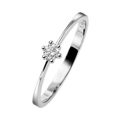 trendor 532449 Brillantring 585 Weißgold für Verlobung und Heiratsantrag