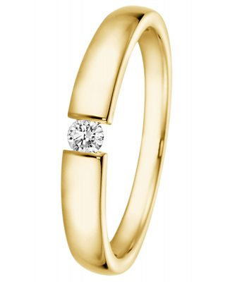 trendor 532506 Ring mit Diamant 0,05 ct Gold 585/14K Verlobungsring
