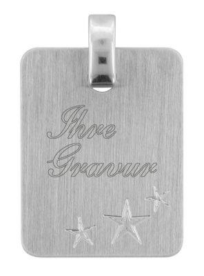 trendor 70074 Silber Gravuranhänger mit Sternen