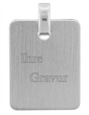 trendor 70111 Silber Anhänger Gravurplatte