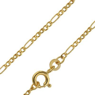 trendor 71811 Goldkette 333 Gold für Damen und Herren Figaro Diamantiert