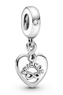 Pandora 799294C01 Silber Charm-Anhänger Freunde für immer Herz