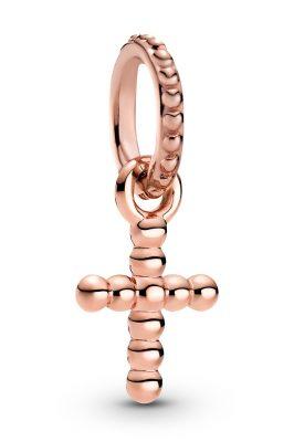 Pandora 789332C00 Rose Charm-Anhänger Kügelchenkreuz