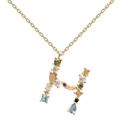 P D Paola CO01-103-U Damen-Halskette Buchstabe H