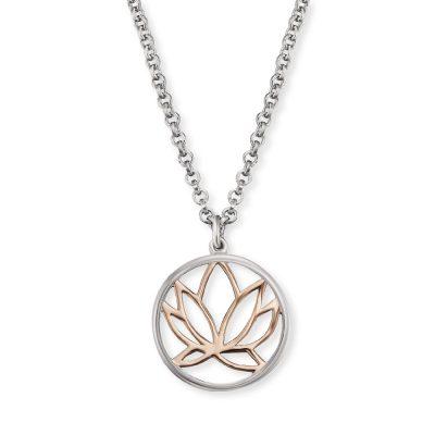 Engelsrufer ERN-LILLOTUS-BICOR Silber-Halskette für Damen Lotus