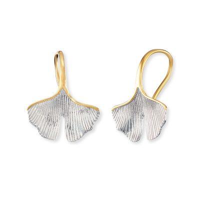Engelsrufer ERE-GINGKO-BIG Damen-Ohrringe Ohrhänger Silber Gingko-Blatt