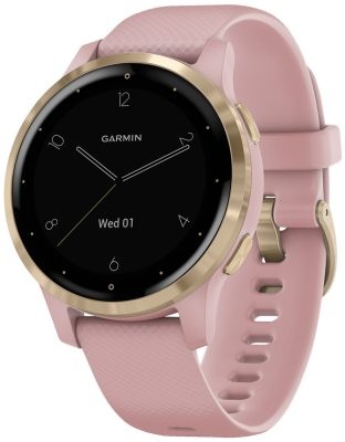 Garmin 010-02172-32 vivoactive 4s GPS Fitness-Smartwatch Rosa/Gold