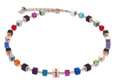 Coeur de Lion 4980/10-1500 Damen-Halskette GeoCUBE Multicolor