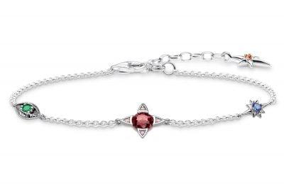 Thomas Sabo A1913-342-7-L19V Damen-Armband Kleine Glücksbringer Silber
