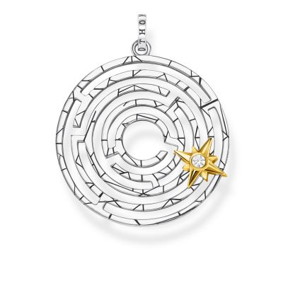 Thomas Sabo PE851-849-14 Anhänger Labyrinth mit Stern