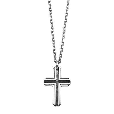 Xenox XS9300 Silber Herren-Halskette Kreuz