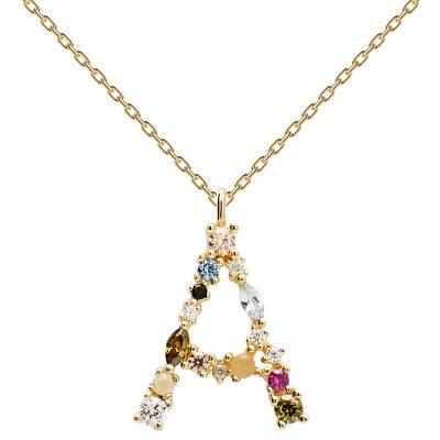 P D Paola CO01-096-U Damen-Halskette Buchstabe A