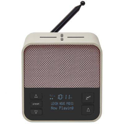 Lexon LA117GP Radiowecker Oslo News DAB+ FM Hellgrau/Pink