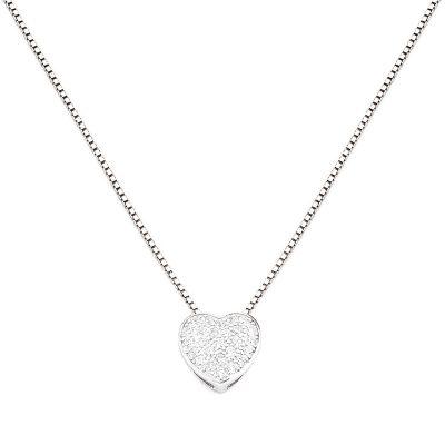 Amen CLPH Damen-Halskette Herz 925 Silber mit Zirkonia