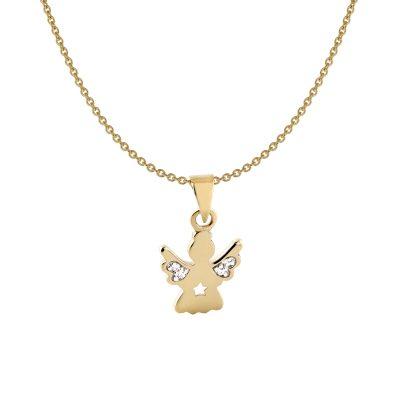 Acalee 50-1010 Halskette für Kinder mit Engel Gold 333 / 8K